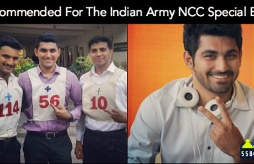 Recommended For The Indian Army NCC Special Entry