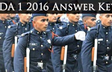 NDA 1 2016 answer keys
