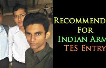 Recommended For Indian Army TES Entry