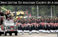 An Open Letter To Military Cadets By A Major