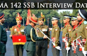 IMA 142 SSB Interview Dates