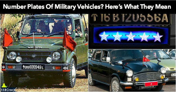 Ever Observed Number Plates Of Military Vehicles? Here's