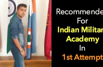 Recommended For Indian Military Academy In 1st Attempt
