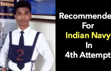 Recommended For Indian Navy Technical Entry In 4th Attempt