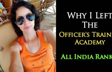 Why I Left Officer's Training Academy Chennai