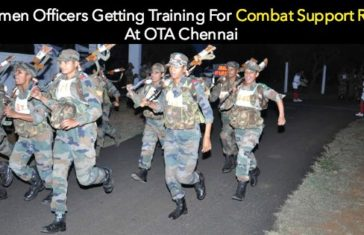 Women Officers Getting Training For Combat Support Role At OTA Chennai