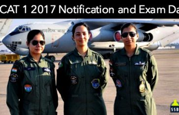 AFCAT 1 2017 Notification and Exam Date