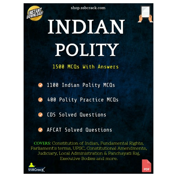 30 Most Important Polity Questions For CDS, AFCAT and NDA