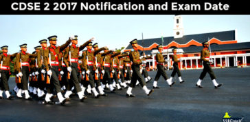CDS 2 2017 Notification and Exam Date