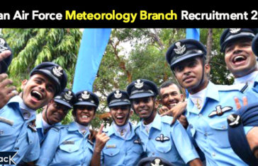 Indian Air Force Meteorology Branch Recruitment 2017