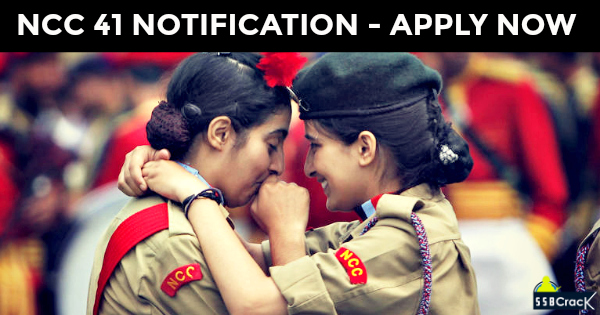 NCC 41 NOTIFICATION - APPLY NOW