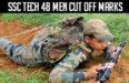 SSC Tech 48 Men Cut Off Marks