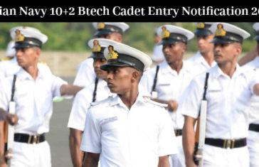 Indian Navy 10+2 Btech Cadet Entry Notification 2017