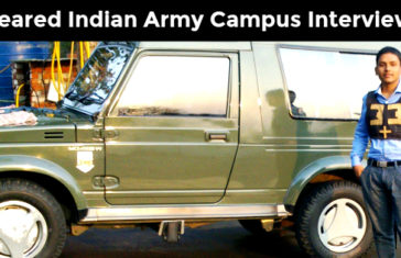 Indian army campus interview