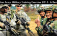 Indian Army Training Events And Military Exercises 2016: A Review