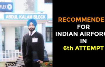 RECOMMENDED FOR INDIAN AIRFORCE IN 6th ATTEMPT