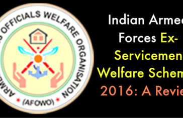 Indian Armed Forces Ex-Servicemen Welfare Schemes 2016: A Review