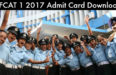 AFCAT 1 2017 Admit Card Download