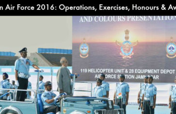 Indian Air Force 2016: Operations, Exercises, Honours and Awards