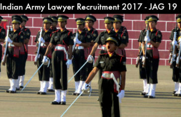 Indian Army Lawyer Recruitment 2017 – JAG Entry Scheme – JAG 19