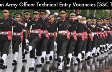 Indian Army Officer Technical Entry Vacancies [SSC Tech]