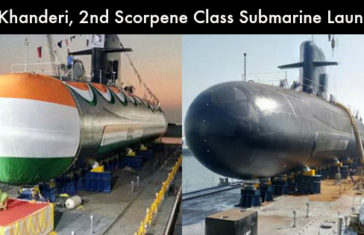 INS Khanderi, The 2nd Scorpene Class Submarine Launched