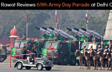 Gen Rawat Reviews 69th Army Day Parade at Cariappa Parade Ground