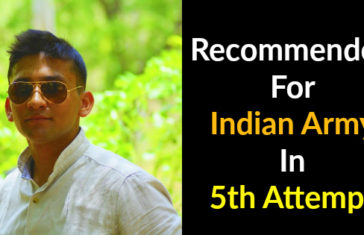Recommended For Indian Army In 5th Attempt