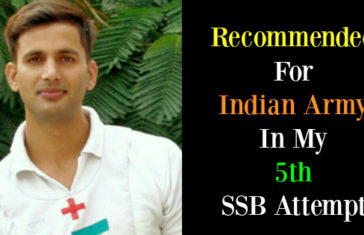 Recommended For Indian Army In My 5th SSB Attempt