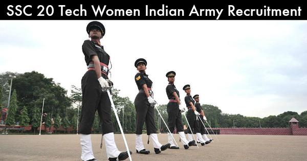 SSC 20 Tech Women Indian Army Recruitment