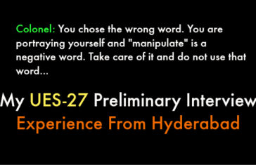 My UES-27 Preliminary Interview Experience From Hyderabad