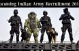 Upcoming Indian Army Recruitment 2017