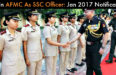 Join Armed Forces Medical Services (AFMC) As Officer: Jan 2017 Notification