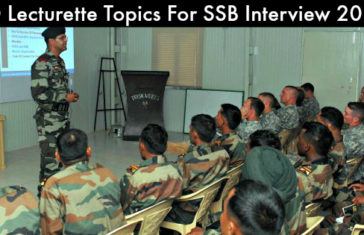 50 Lecturette Topics For SSB Interview 2017