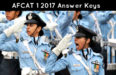 AFCAT 1 2017 Answer Keys