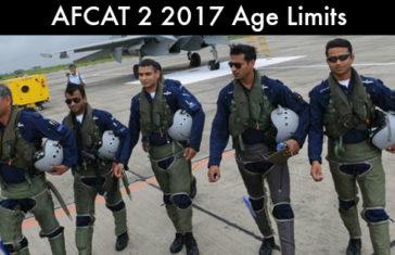 AFCAT 2 2017 Age Limits