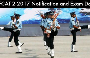 AFCAT 2 2017 Notification and Exam Date