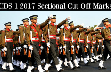 CDS 1 2017 Sectional Cut Off Marks