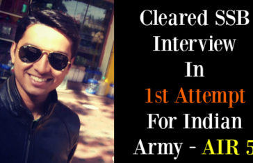 Cleared SSB Interview In 1st Attempt For Indian Army - AIR 5