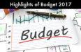 Highlights of Budget 2017