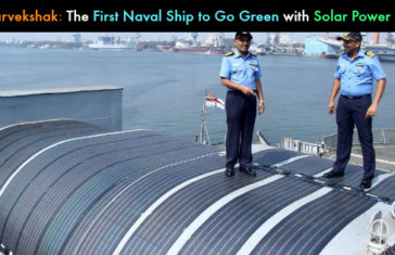INS Sarvekshak: The First Naval Ship to Go Green, Installs Solar Power System