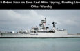 INS Betwa Back on Even Keel After Tipping, Floating Like Any Other Warship