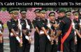 OTA Cadet Declared Permanently Unfit To Serve