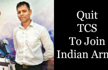 Quit TCS To Join Indian Army