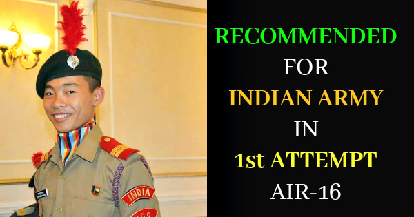 RECOMMENDED FOR INDIAN ARMY IN 1st ATTEMPT AIR-16