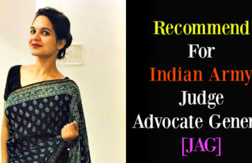 Recommend For Indian Army Judge Advocate General