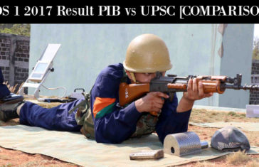 CDS 1 2017 Result PIB vs UPSC