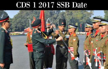 CDS 1 2017 SSB Date