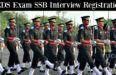 CDS Exam SSB Interview Registration
