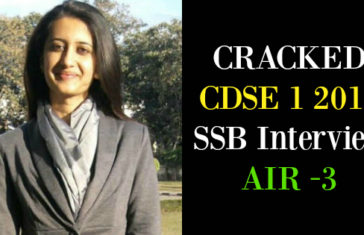 CRACKED CDSE 1 2016 SSB Interview AIR -3